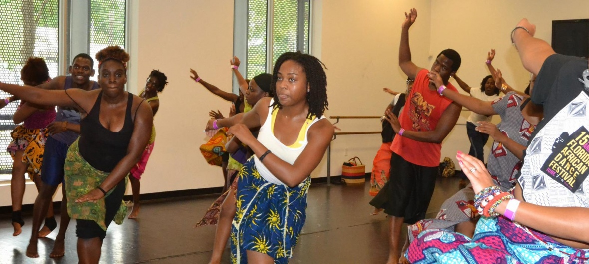 African Diaspora Dance & Drum Festival of Florida dance workshop